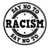 Say no to racism stamp — Stock Vector