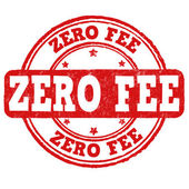 Zero fee stamp — Vecteur