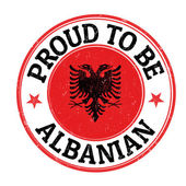Proud to be albanian stamp — Stock Vector
