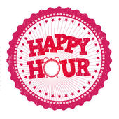 Happy hour stamp — Vector de stock