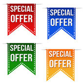 Special offer deal ribbons — Vecteur