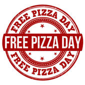 Free pizza day stamp — Stock Vector