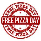 Free pizza day stamp — Stock vektor
