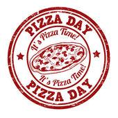 Pizza day stamp — Stock vektor
