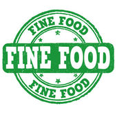Fine food  stamp — Stock vektor