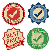 Best price promotional label, sticker or stamps — Stock Vector