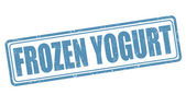 Frozen yogurt stamp — Stock Vector