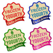 Frozen yogurt label, sticker or stamps — Stock Vector