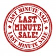 Last minute sale stamp — Stock Vector #49500359