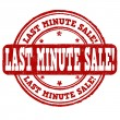 Last minute sale stamp — Stock Vector #49500463