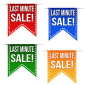Last minute sale ribbons — Vettoriale Stock