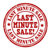 Last minute sale stamp — Stock Vector