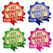 Last minute sale label, sticker or stamps — Vettoriale Stock