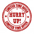 Limited time offer, hurry up stamp — Vector de stock  #49545059