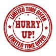 Limited time offer, hurry up stamp — Vettoriale Stock
