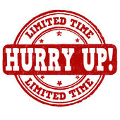 Limited time, hurry up stamp — Stock Vector