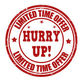 Limited time offer, hurry up stamp — Stock Vector