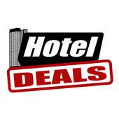 Hotel deals stamp — Stock Vector
