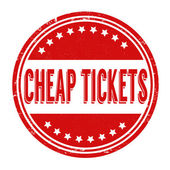 Cheap tickets stamp — Stock Vector