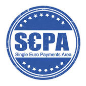 SEPA - Single Euro Payments Area stamp — Stock Vector