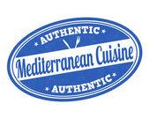 Mediterranean cuisine stamp — Stock Vector