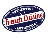 French cuisine stamp — 图库矢量图片