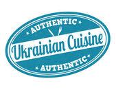 Ukrainian cuisine stamp — Vettoriale Stock