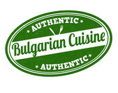 Bulgarian cuisine stamp — Stock Vector