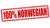 100 percent norwegian stamp — Stock Vector