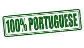 100 percent portuguese stamp — Vettoriale Stock