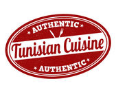 Tunisian cuisine stamp — Stock Vector