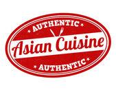 Asian cuisine stamp — Stock Vector