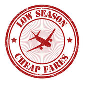 Low season, cheap fares stamp — Vector de stock