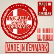 Made in Denmark set of stamps and labels  — Stock Vector #49814147