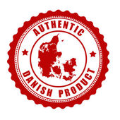 Authentic Danish product stamp or label — Stok Vektör