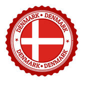 Denmark stamp or label — 图库矢量图片