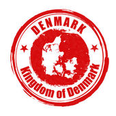 Denmark stamp — Vector de stock