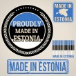 Made in Estonia set of stamps and labels — Stock Vector #49833403