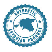 Authentic Estonian product stamp or label — Stok Vektör