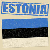 Estonia grunge flag and stamp — Stock Vector