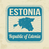 Estonia stamp — Stock Vector