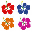 Set of Hibiscus flowers — Stock Vector #49857673