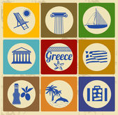 Greece elements and icons — Stock Vector
