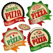 Pizza label, sticker or stamps — Stock Vector #49875801