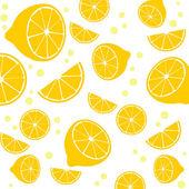 Lemons background texture — Vector de stock