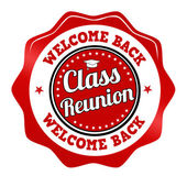 Class reunion sticker, icon,stamp or label  — Stock Vector