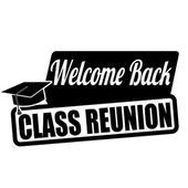 Welcome back class reunion label or stamp — Stock Vector
