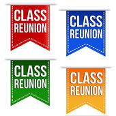 Class reunion ribbons set — Stock Vector