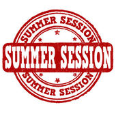Summer session stamp — Vecteur