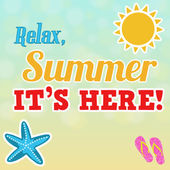 Relax, summer is here poster — Stok Vektör